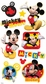 Disney Puffy Stickers - Micky Mouse