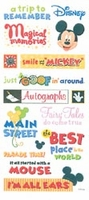 Disney Stickers & Borders - Mickey Themepark Phrase Stickers