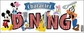 Disney Title Dimensional Sticker - Mickey/Character Dining
