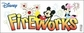 Disney Title Dimensional Sticker - Mickey/Fireworks