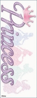Disney Vacation Title Dimensional Sticker - Princess Glitter
