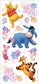 Disney Winnie The Pooh Stickers/Borders - Doodle Art