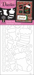 Double Stick Dazzle Stickers - Stockings - Click to enlarge