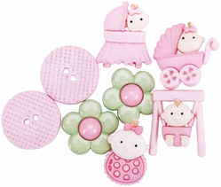 Dress It Up Embellishments - Baby Fun Girls - Click to enlarge
