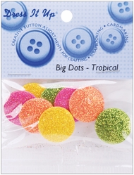 Dress It Up Embellishments - Big Dots Tropical - Click to enlarge