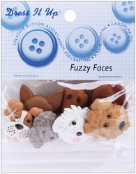 Dress It Up Embellishments - Fuzzy Faces - Click to enlarge