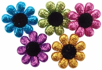 Dress It Up Embellishments - Glitter Flowers