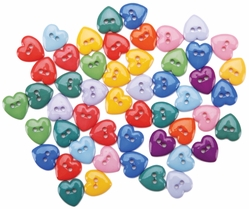 Dress It Up Embellishments - Mini Simple Hearts - Click to enlarge