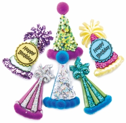 Dress It Up Embellishments - Party Hats - Click to enlarge