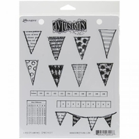 Dylusions by Dyan Reaveley Cling Stamps - Bags Of Bunting