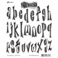 Dyan Reaveley Cling Stamps - Dy's Alphabet