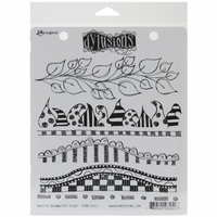 Dylusions by Dyan Reaveley Cling Stamps - Further Around The Edge
