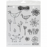 Dylusions by Dyan Reaveley Cling Stamps - How Does Your Garden Grow