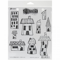 Dylusions by Dyan Reaveley Cling Stamps - Right Up Your Street