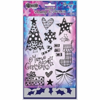 Dylusions by Dyan Reaveley Clear Stamps & Stencil Set - Stocking Fillers