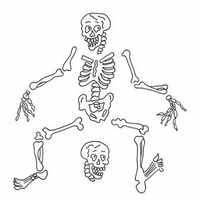Dyan Reaveley Dylusions Cling Stamp Collection - Boney Maloney