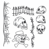 Dyan Reaveley Dylusions Cling Stamp Collection - Day Of The Heads