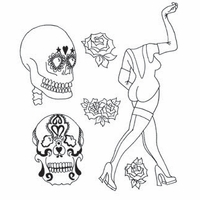 Dyan Reaveley Dylusions Cling Stamp Collection - Pin Up Queen