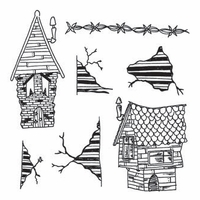 Dylusions by Dyan Reaveley Cling Stamp Collection - This Old House