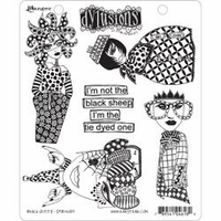 Dylusions by Dyan Reaveley Cling Stamp Collection - Black Sheep