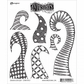 Dyan Reaveley Dylusions Cling Stamp Collections - Doodle Delight