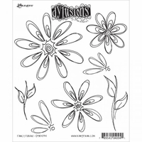 Dylusions by Dyan Reaveley Cling Stamp Collection - Fancy Florals