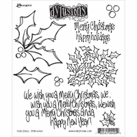 Dylusions by Dyan Reaveley Cling Stamp Collection - Holly Days