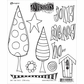 Dyan Reaveley's Dylusions Cling Stamp Collections - One Two Three