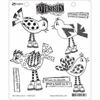 Dylusions by Dyan Reaveley Cling Stamp Collections - Put A Bird On It