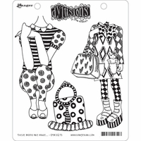 Dylusions by Dyan Reaveley Cling Stamp Collections - These Boots Are Made...
