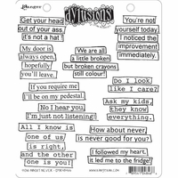 Dylusions by Dyan Reaveley Cling Stamps - How About Never