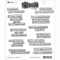 Dyan Reaveley's Dylusions Cling Stamps - Never Forget