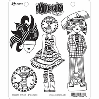 Dyan Reaveley's Dylusions Cling Stamps - Passage Of Time