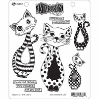 Dyan Reaveley's Dylusions Cling Stamps - Puddy Cat