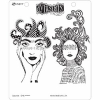 Dylusions by Dyan Reaveley Cling Stamps - Survivor
