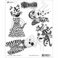 Dyan Reaveley's Dylusions Cling Stamps - The Fancy Four