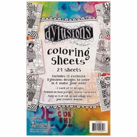 "Dyan Reaveley's Dylusions Coloring Sheets 5""x8"""