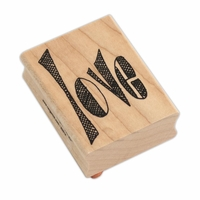 Dylusions by Dyan Reaveley Wood Stamp - Love Word