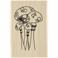 Dyan Reaveley's Dylusions Stamp - Mushroom Madness
