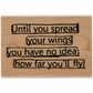 Dyan Reaveley's Dylusions Stamp - Wings Quote