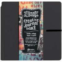 "Dyan Reaveley Dylusions Creative Square Journal 8""x8"" - Black"