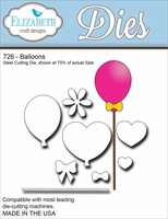 Elizabeth Craft Metal Die - Balloons