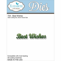 Elizabeth Craft Metal Die - Best Wishes (724)