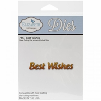 Elizabeth Craft Metal Die - Best Wishes (785)