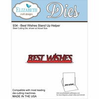 Elizabeth Craft Metal Die - Best Wishes Stand Up Helper