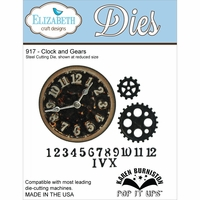 Elizabeth Craft Metal Die - Clock & Gears