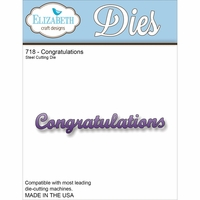 Elizabeth Craft Metal Die - 718 Congratulations