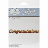 Elizabeth Craft Metal Die - 784 Congratulations