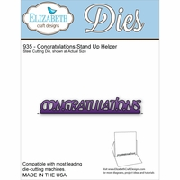 Elizabeth Craft Metal Die - Congratulations Stand Up Helper