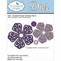Elizabeth Craft Metal Die - Crystal Flower Overlay Set 2